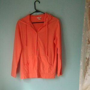 2/$20 Christopher and banks orange  hood jacket
